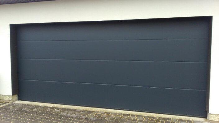 Bramy rolowane garażowe kolor siwy